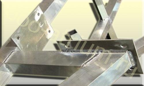 Пример конструкции из алюминиевой трубы.