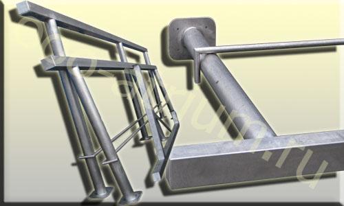 Пример конструкции из нержавеющей трубы.