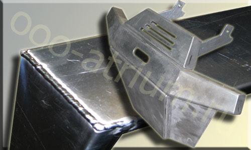 Пример сварки алюминия в среде аргона, готовое сварное изделие из алюминия.