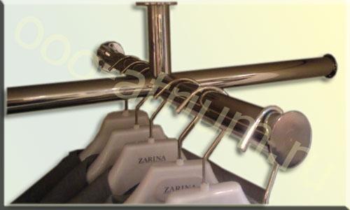 Крестовой кронштейн - вешало, из полированой нержавеющей трубы D25 mm.