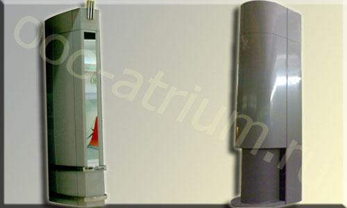 Декоративные алюминиевые колонны ТРК РАДУГА.